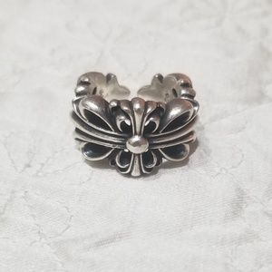 Chrome Hearts Double Floral Ring